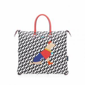 Shopping piatta trasformabile in pvc stampa chihuahua