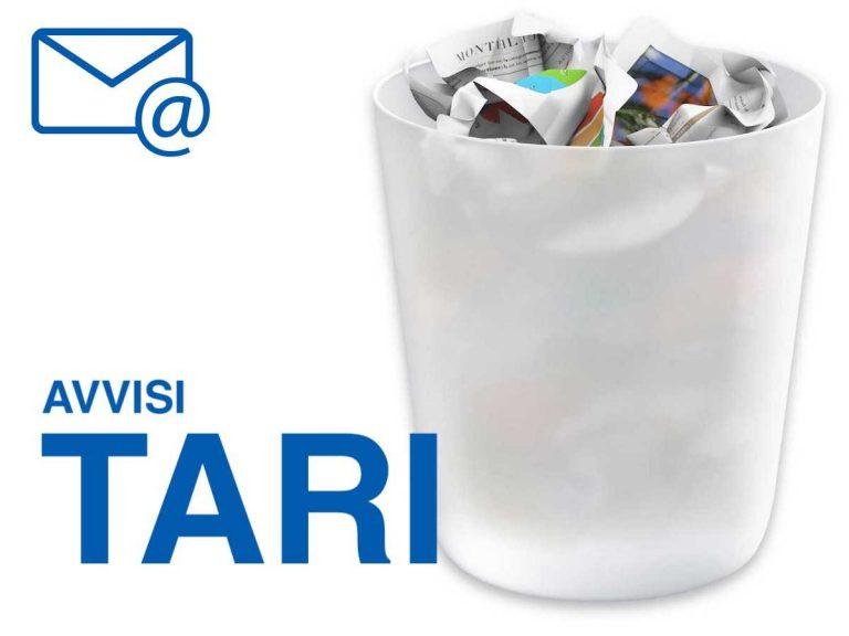 Tari, l'avviso di pagamento per la tassa sui rifiuti è via mail