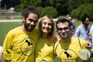 Da sinistra Yunes Calore, Giada Lanzotti e Alessio Ferrantino