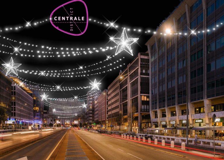 Centrale District riporta la luce a Natale in Vittor Pisani