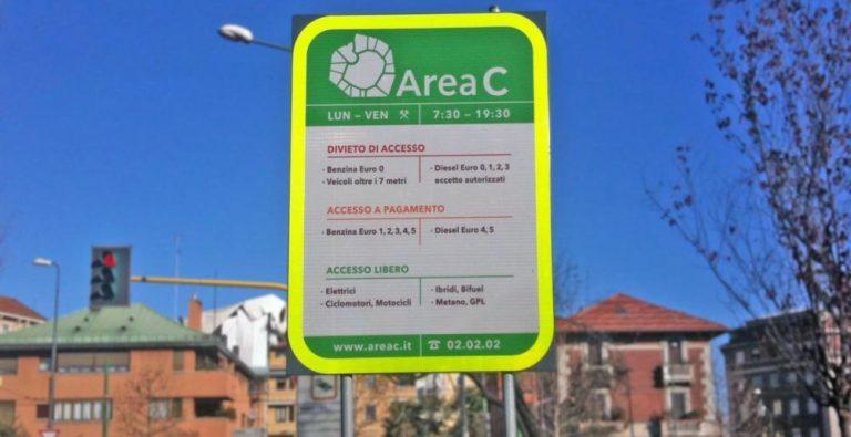Sospensione dell'Area C prolungata fino al 14 giugno