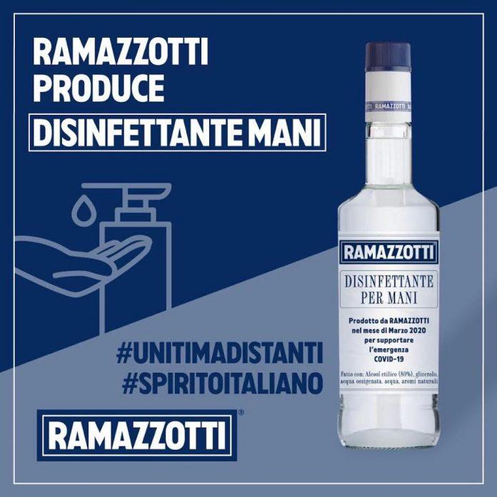 Anche Ramazzotti presenta il suo igienizzante