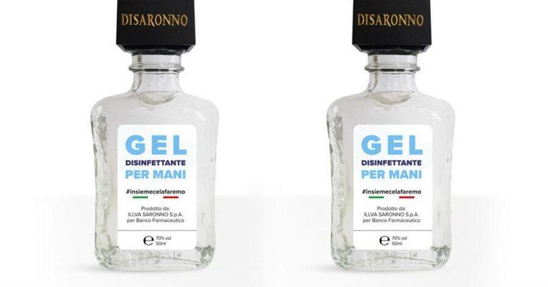 Anche Disaronno produce il suo gel igienizzante