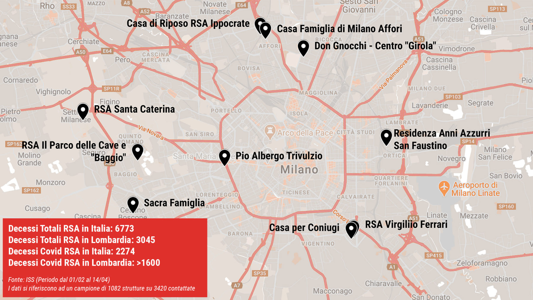mappa Rsa Milano