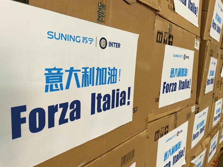 Trencentomila mascherine da Inter e Suning