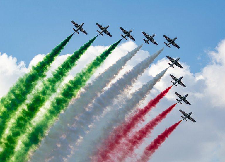 Lunedì lo spettacolo delle Frecce Tricolori su Milano