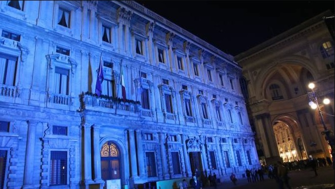 palazzo marino blu