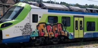 treno donizetti imbrattato