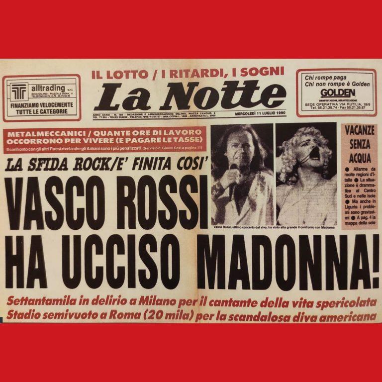 """10 luglio 1990: il """"Komandante"""" Vasco assedia San Siro per la prima volta"""