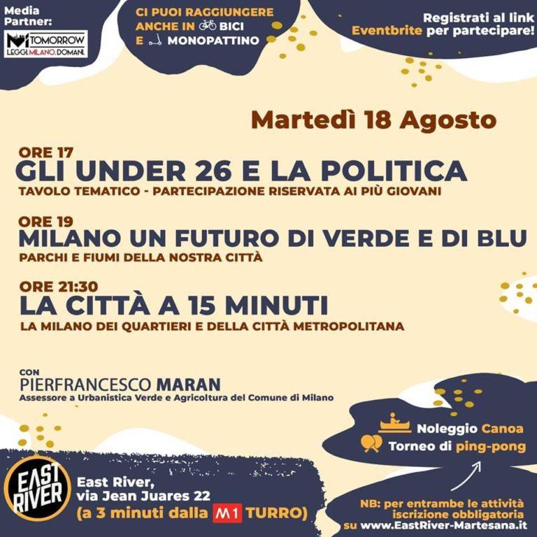 La Milano di domani all'East River Martesana: il programma della prima giornata