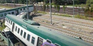 treno deragliato carnate usmate