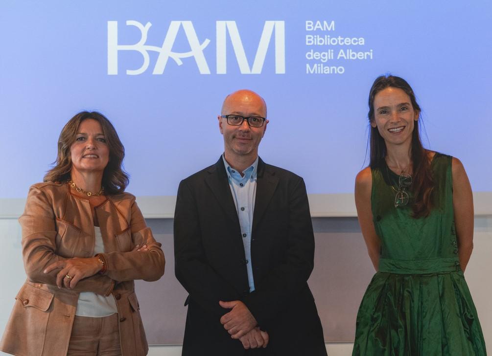 Francesca Colombo, Maurizio Salerno, Kelly Russell Catella per BAM - foto di Ottavia Orzini