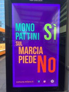 campagna monopattini comune milano
