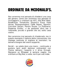 annuncio burger king