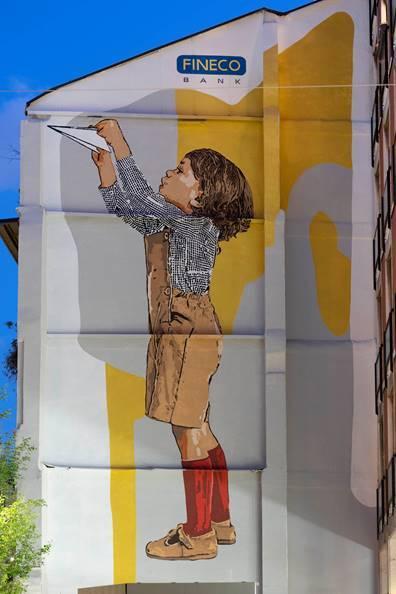 Verso il futuro: il nuovo murale in corso Garibaldi