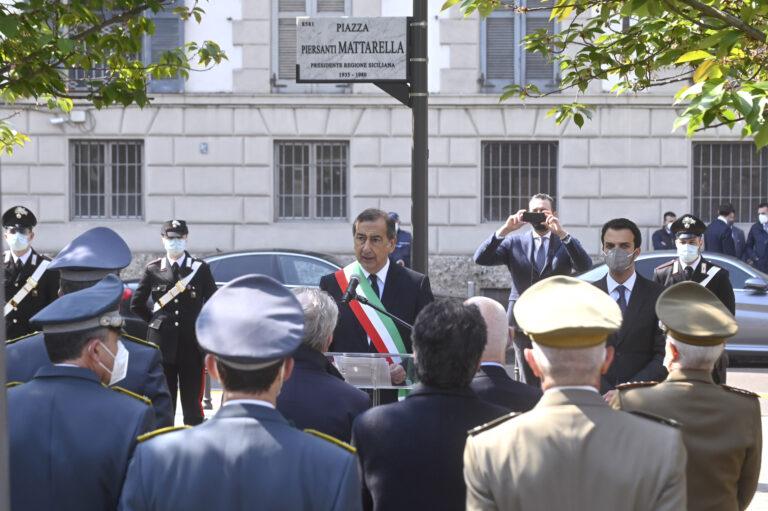 Milano, inaugurata la piazza Piersanti Mattarella